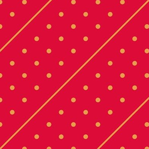 Christmas Dots&Lines Red