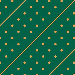 Christmas Dots&Lines Green