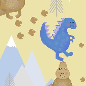 Dinosaurs, children's drawing