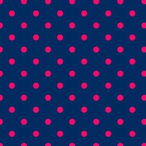 Prunella Dots - Blue Pink