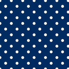 Prunella Dots - Blue White