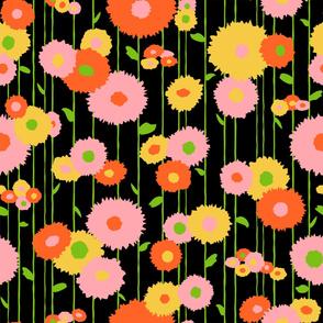 Wallflowers - black large
