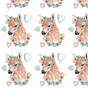 Fawn and Florals