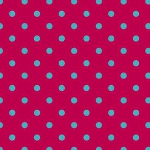 Prunella Dots - Pink Blue