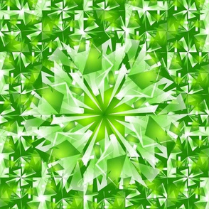 fresh green kaleidoscope