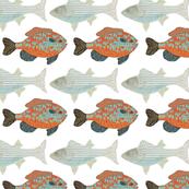 Bluegill and Bass Fish Pattern