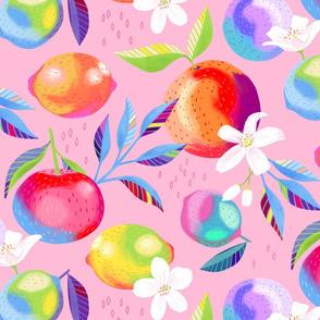 Painted Citrus Blossoms