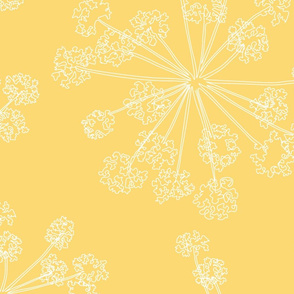 Floral Queen Anne's Lace yellow (jumbo)