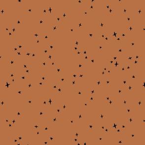 black scattered stars on saffron-37