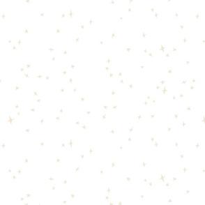 Spoonflower_Cream  scattered stars on white