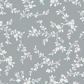 flowering tree - midi - dusty blue