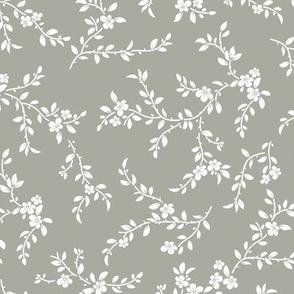 flowering tree - midi - sage green