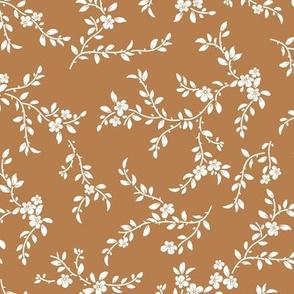 flowering tree - midi - camel brown