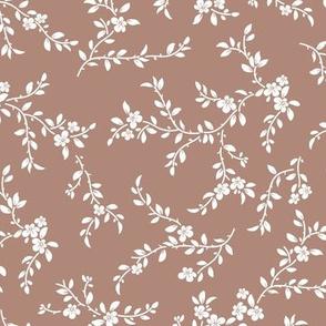 flowering tree - midi - dusty clay