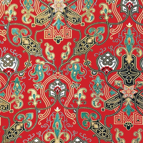China Medallion Red