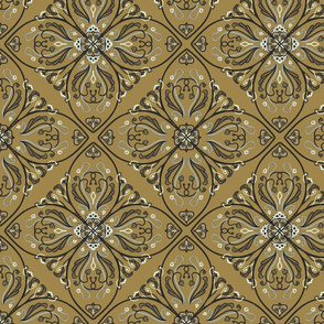 Cement Tile Mustard