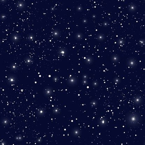 Simple Navy With Stars