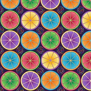 Rainbow Citrus Pop Art
