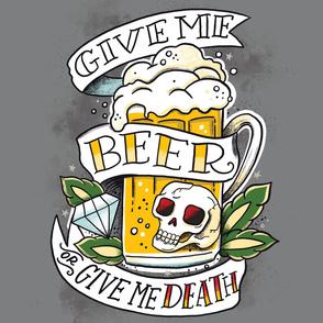 54x72 2 Yard Minky Blanket Give Me Beer-01