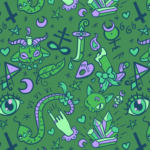 Large Cute Occult in Green