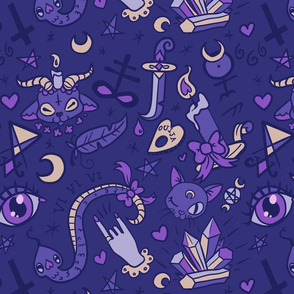 Large Cute Occult in Blue