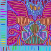 Kuna Tribal Pajaros with Border - Wallpaper