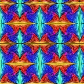 Square Spirals Rainbow -mirror