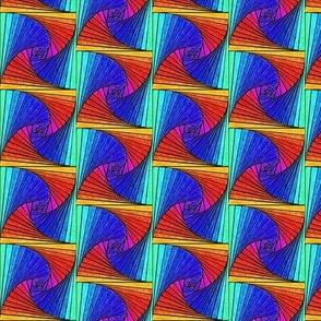 Square Spirals Rainbow-halfdrop