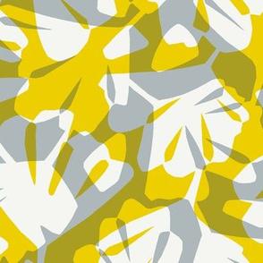 Maiden Hair Fern Reverse - Mustard & Grey