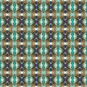 peacock tail feather turquoise violet candy kaleidoscope small