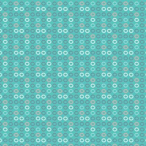 Small brush circles on aqua