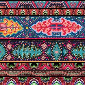 peacock kilim stripe