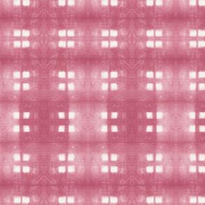 Large Scale Pink  Shibori Squares