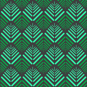 13 Petalled Abstract, green