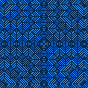 13 Petalled abstract 2, blue