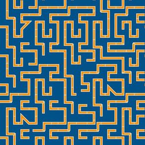 maze orange-blue