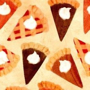 Watercolor Pie Slices
