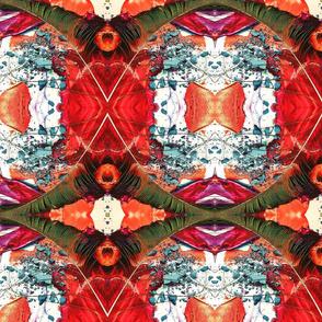 peacock feather multicolor powder rhombus kaleidoscope large