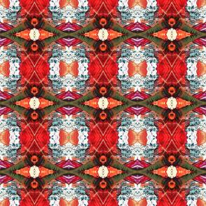 peacock feather multicolor powder rhombus kaleidoscope medium