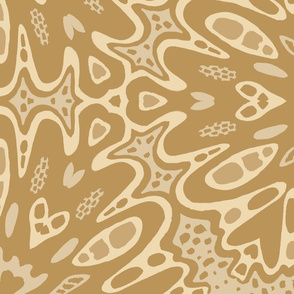 Kaleidoscope Abstract Floral - Mustard