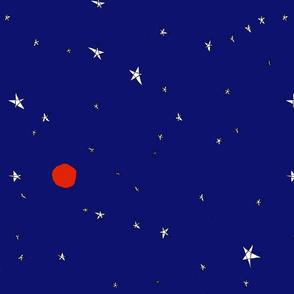 star gazing bright blue