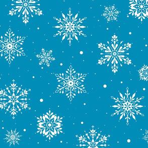 Christmas Folk Snowflakes2 iceblue