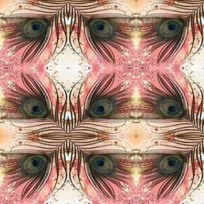 peacock tail feather blush powder striped kaleidoscope large