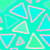 Triangles - Turquoise - Large Scale