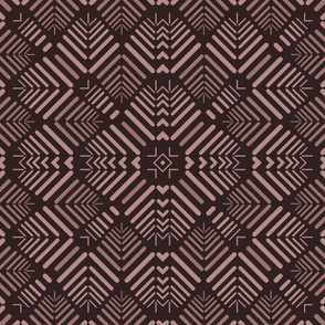13 Petalled Abstract 2, brown