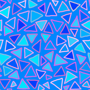 Triangles - Blue Pink - Large scale