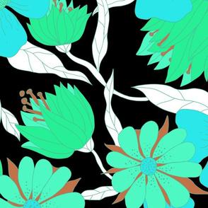Jumbo Flower Power-aqua-celadon
