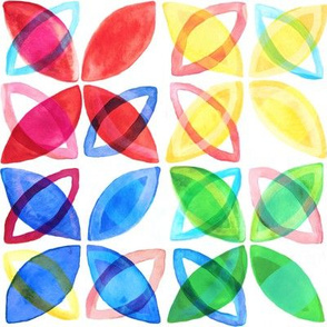 Rainbow Watercolor Pattern - Large Version