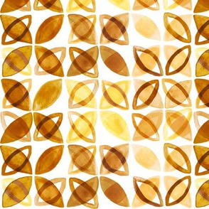 70's Watercolor Pattern - Mustard - Small Version