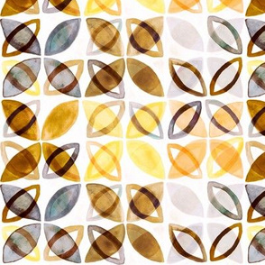 70's Watercolor Pattern - Neutral - Small Version